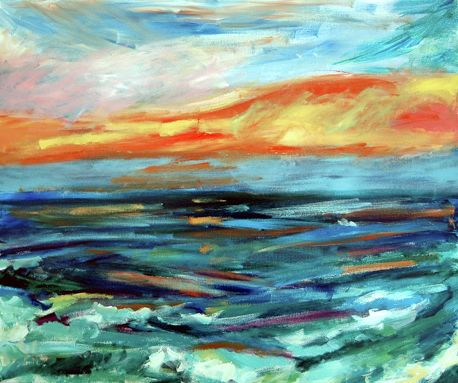 California Seascape Painting - Plein Air Upgrade IIi by Donna Crosby