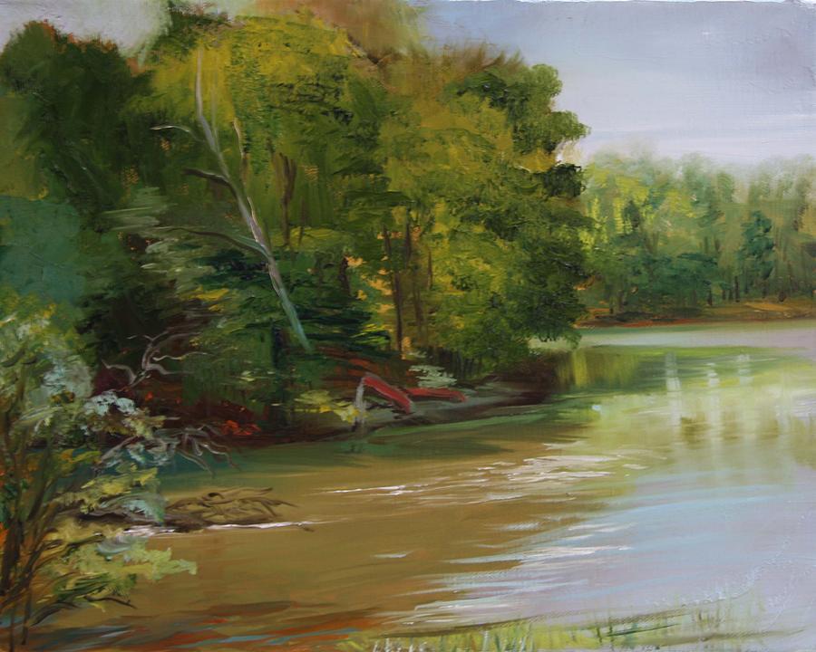 Lake Painting - Plein Air Willow Creek by Jill Holt