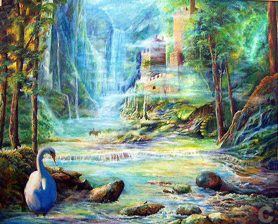 Fantasy Painting - Plenitude by Leonard Aitken