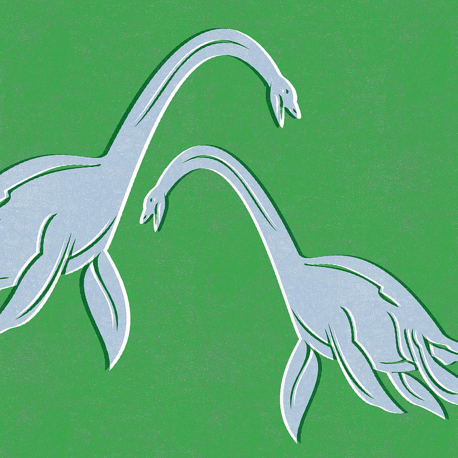 Plesiosaurus Mixed Media