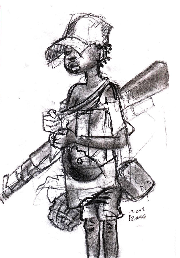 Plight Of A Child Soldier Drawing by Okwir Isaac