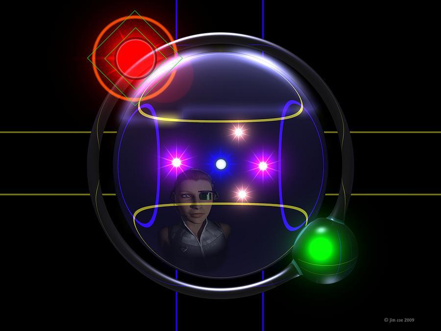 Sci-fi Art Digital Art - Plot A Course by Jim Coe