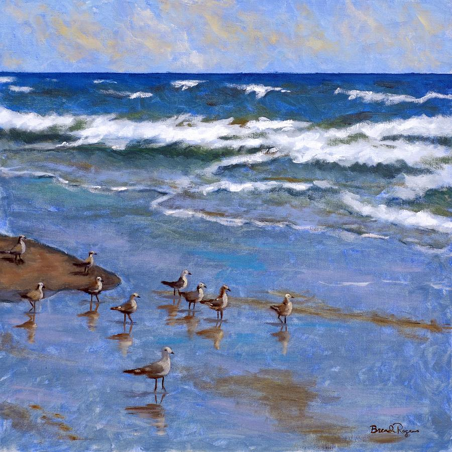 Plover Painting - Plover Dance by Brenda Williams