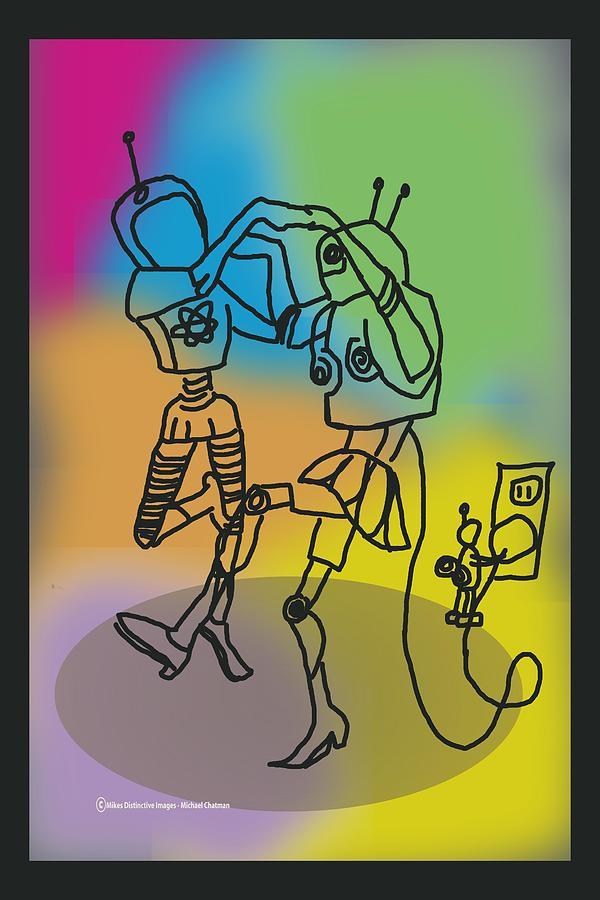Plugged In Digital Art by Michael Chatman