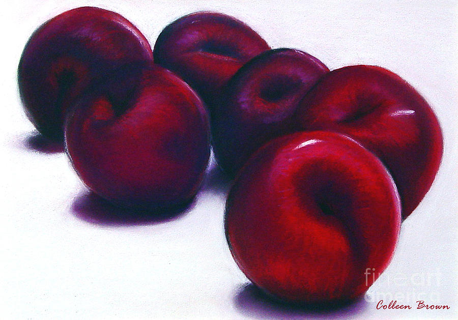 Still Life Painting - Plum Crazy by Colleen Brown