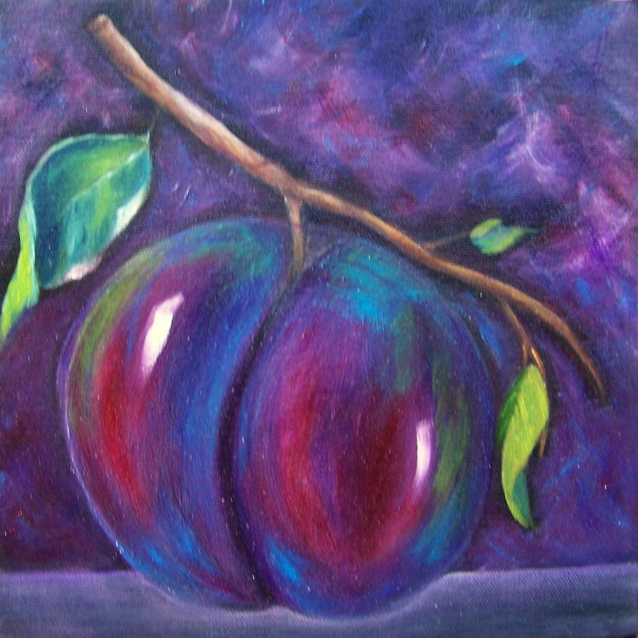 Plum Painting - Plum Done by Susan Dehlinger