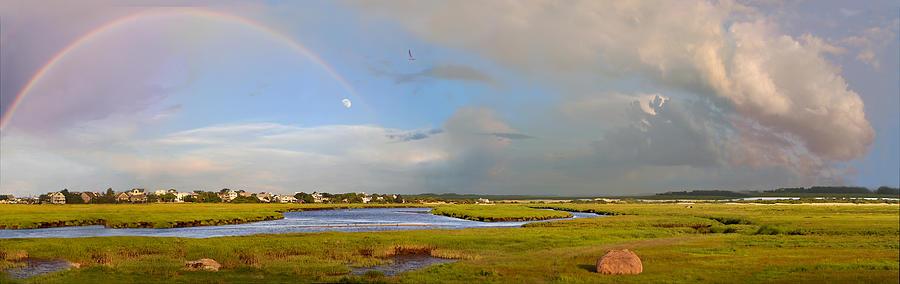 Plum Island Mixed Media - Plum Island Rainbow by John Brown