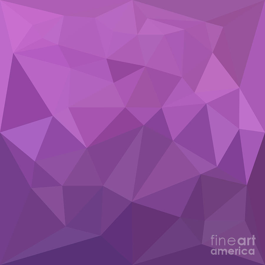 Purple Polygonal Abstract Background: Plum Purple Abstract Low Polygon Background Digital Art By