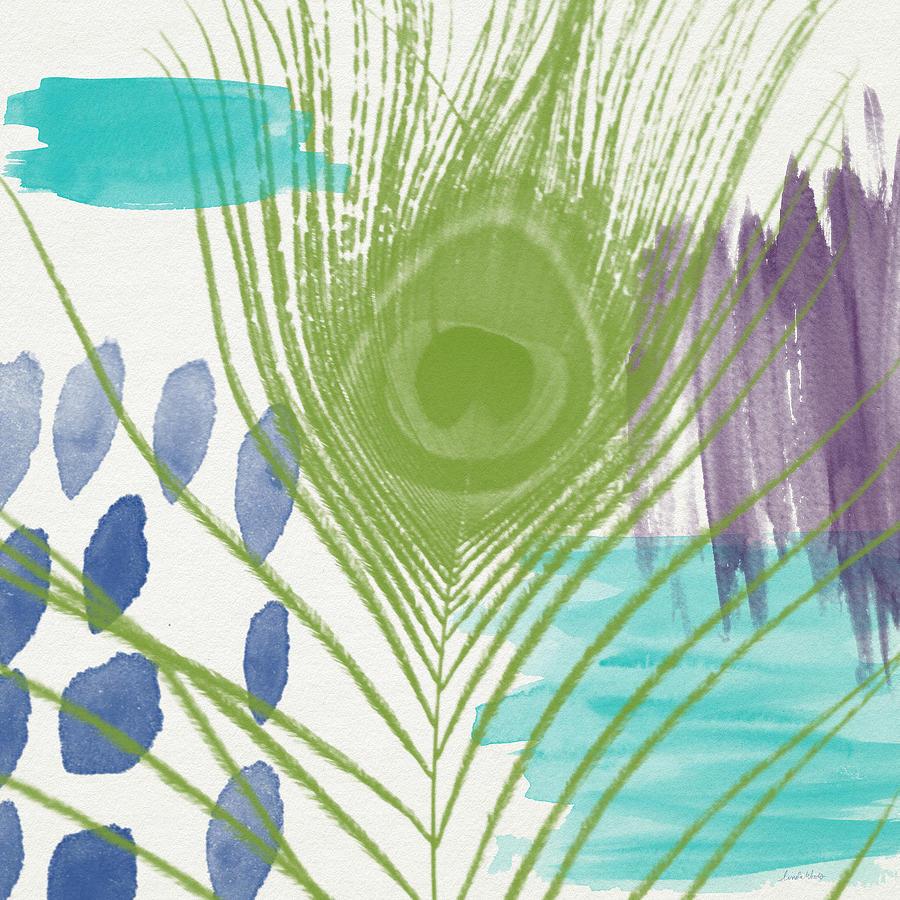 Plumage 4- Art By Linda Woods Painting