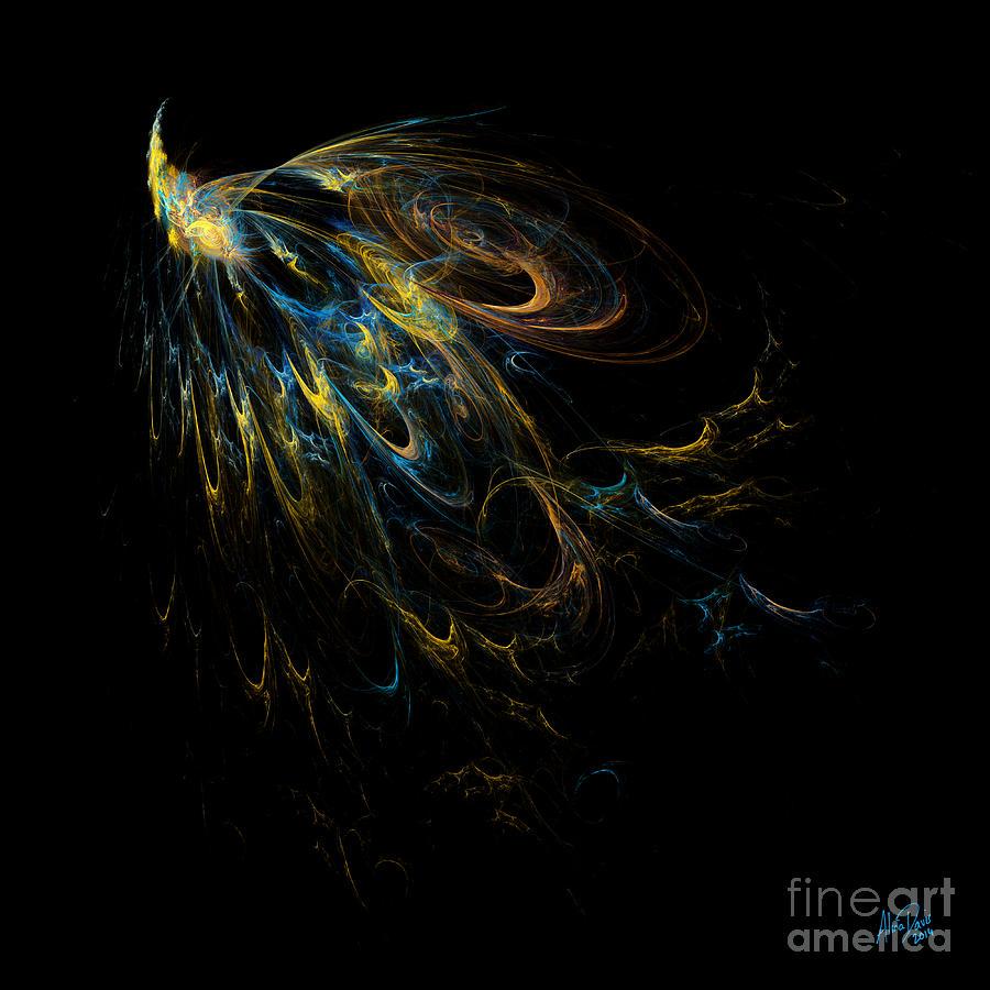 Peacock Digital Art - Plumage by Alina Davis