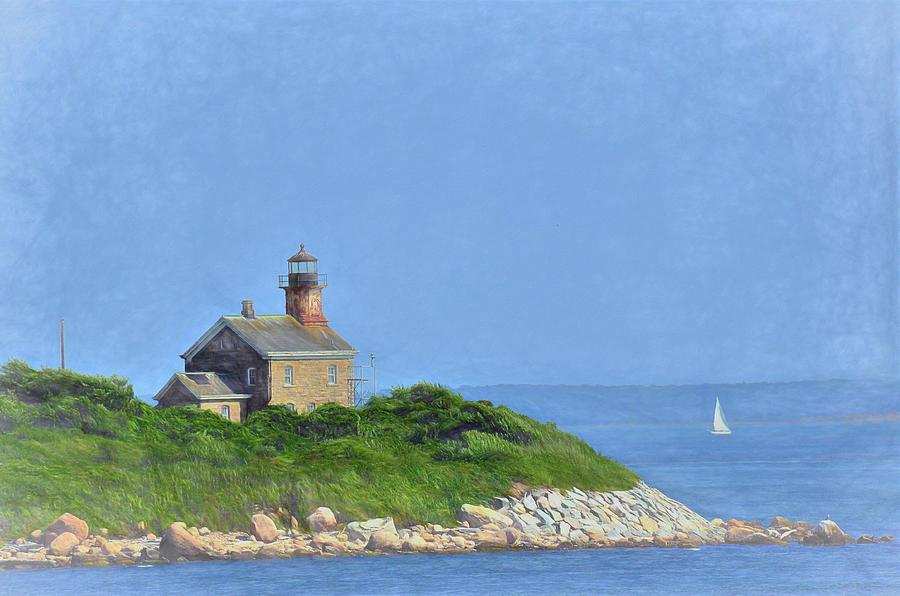 Lighthouse Photograph - Plumb Island Light by Linda C Johnson