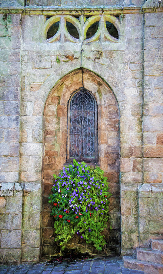 Brittany Photograph - Plumergat, Brittany,france, Parish Church Window by Curt Rush