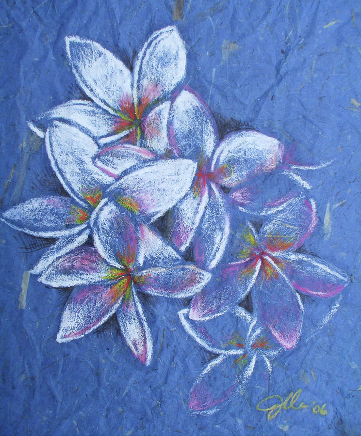 Flower Pastel - Plumeria by Jennifer Bonset