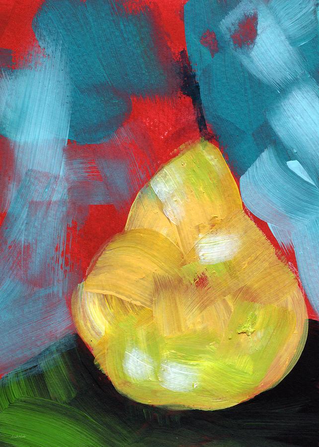 Plump Pear- Art By Linda Woods Painting