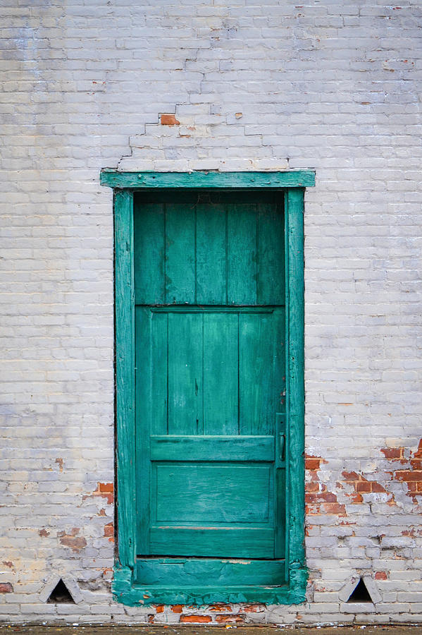 Plymouth Green Door by Cyndi Goetcheus Sarfan