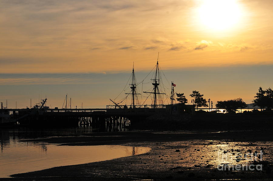 Plymouth Harbor Sunrise Photograph by Catherine Reusch Daley