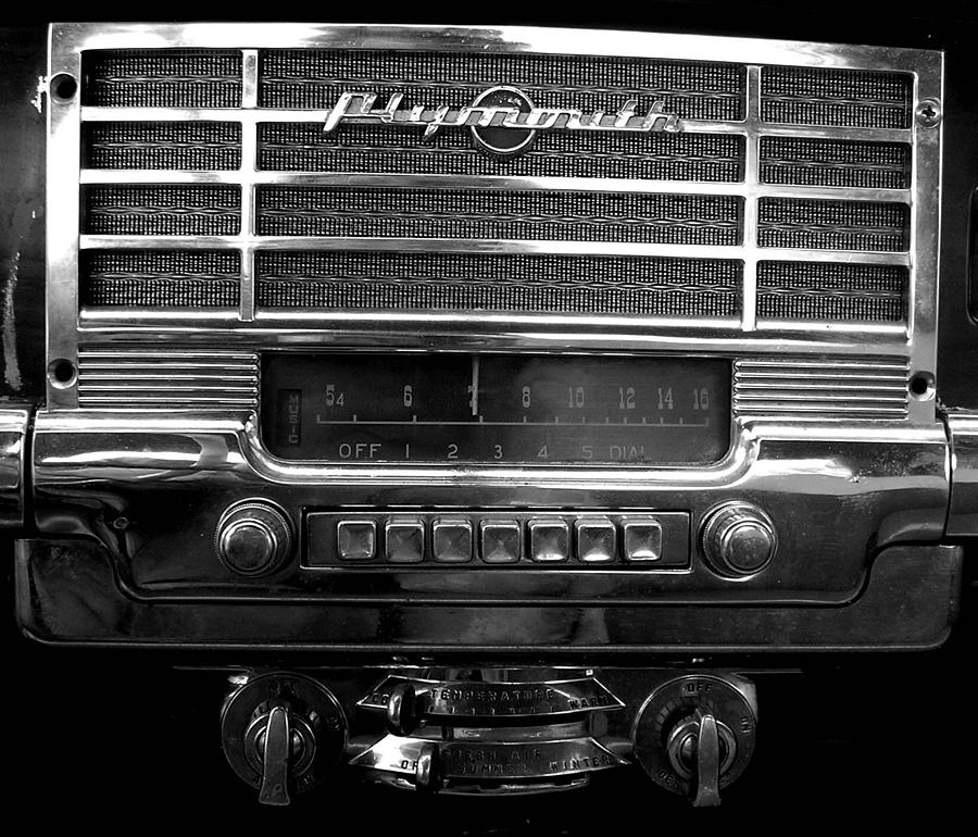 Car Photograph - Plymouth Radio by Audrey Venute