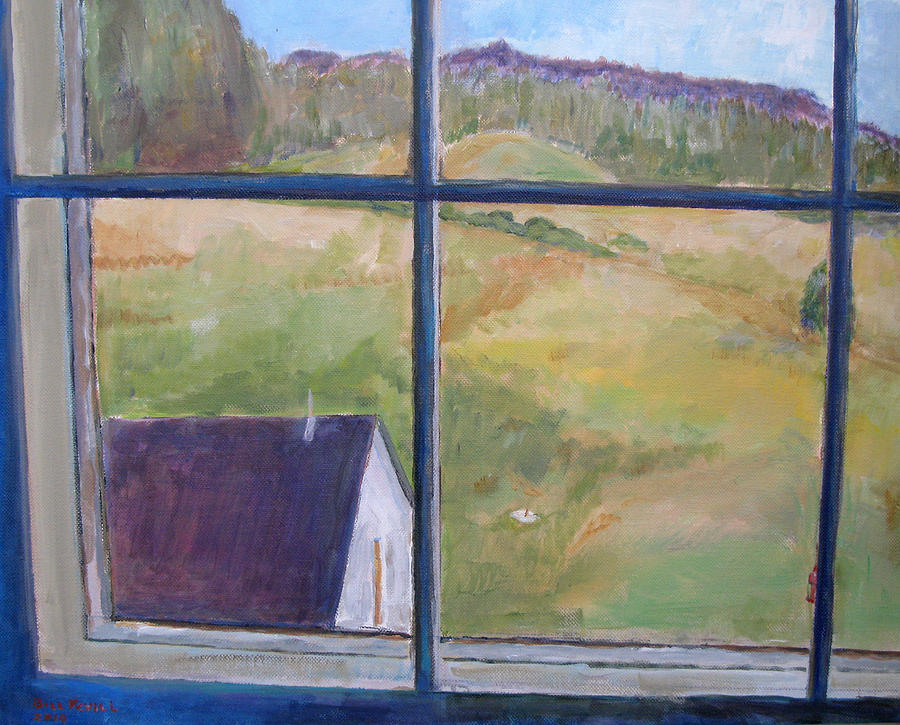 Landscape Painting - Plymouth Vt Cheese Factory Window by Bill Revill