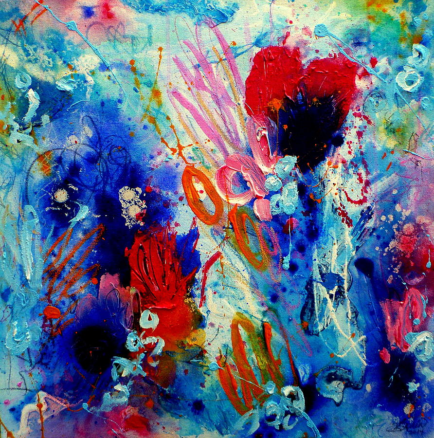 Colorful Painting - Pocket Full of Horses 1 by Tracy Bonin