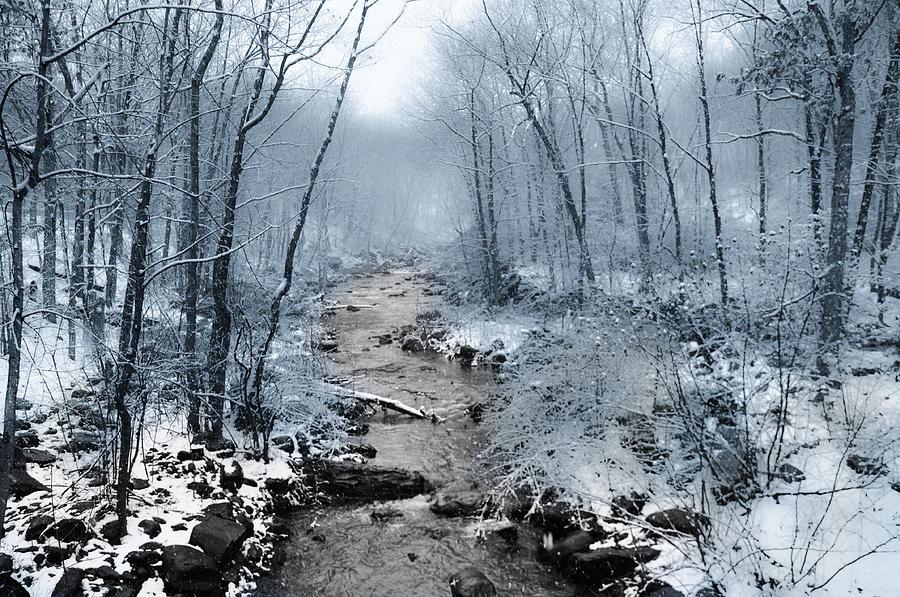 Pocono Photograph - Pocono Mountain Winter by Bill Cannon
