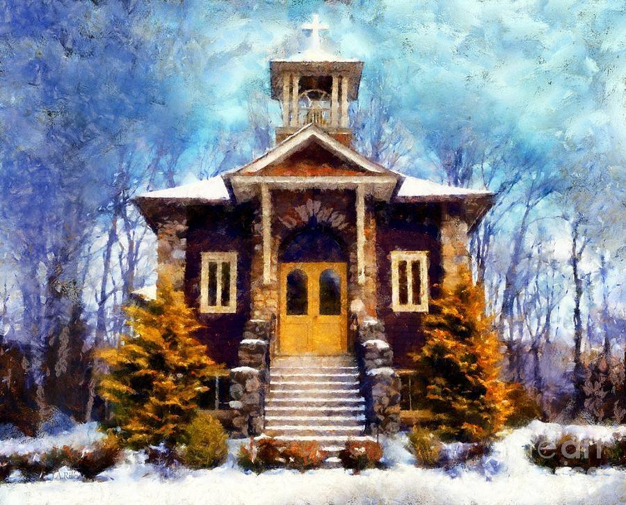Church Photograph - Poconos Country Church by Janine Riley