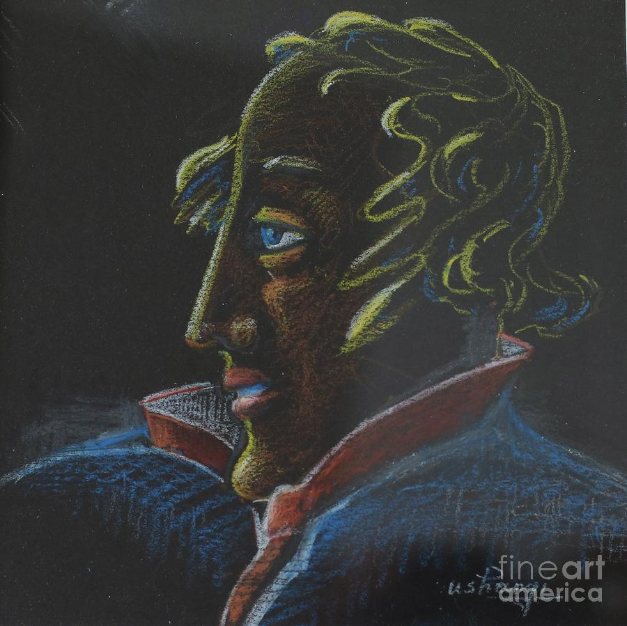 Poet Pastel - Poet by Ushangi Kumelashvili