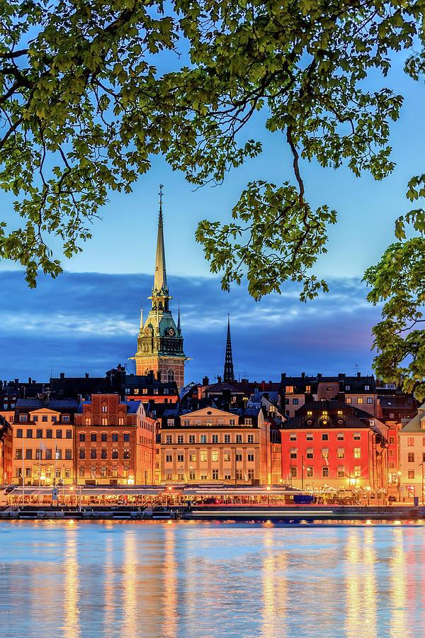 Stockholm Photograph - Poetic Stockholm Blue Hour by Dejan Kostic