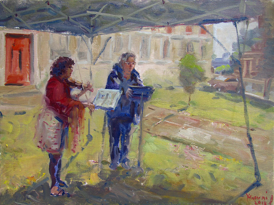 Poetry Painting - Poetry And Violin by Ylli Haruni