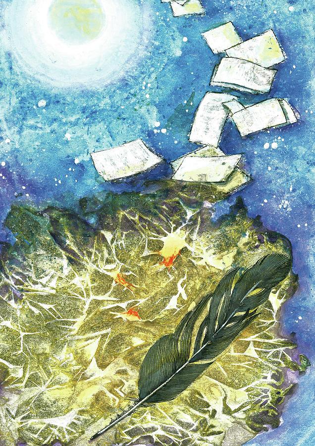 Poetry Painting - Poetry by Larysa Golik