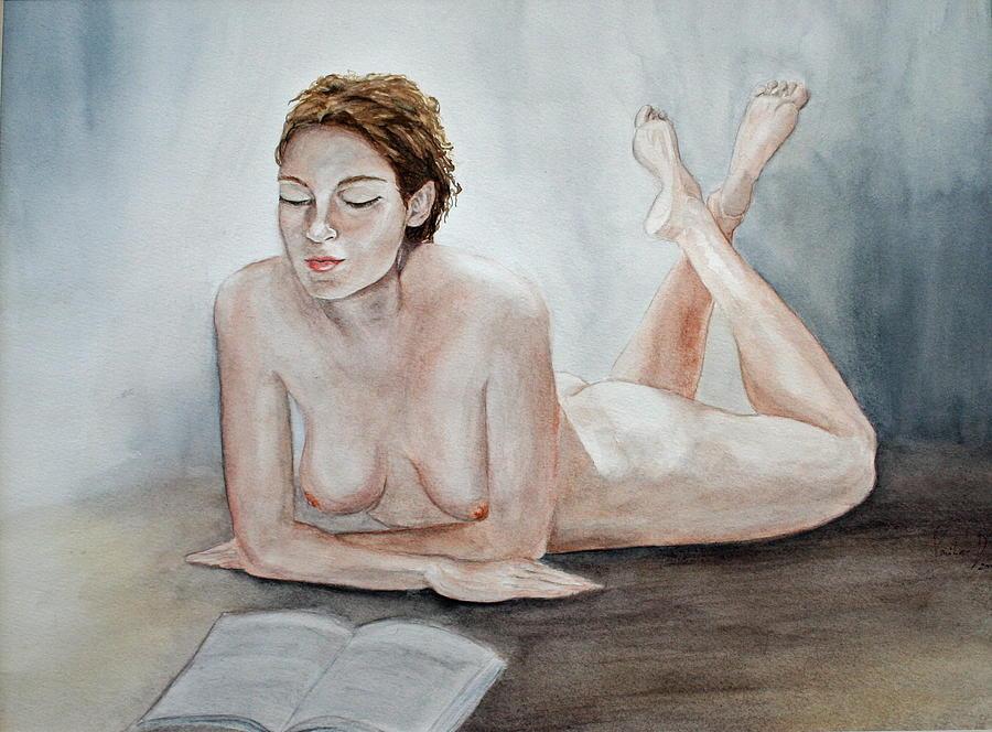 Figure Painting - Poetry by Monika Degan
