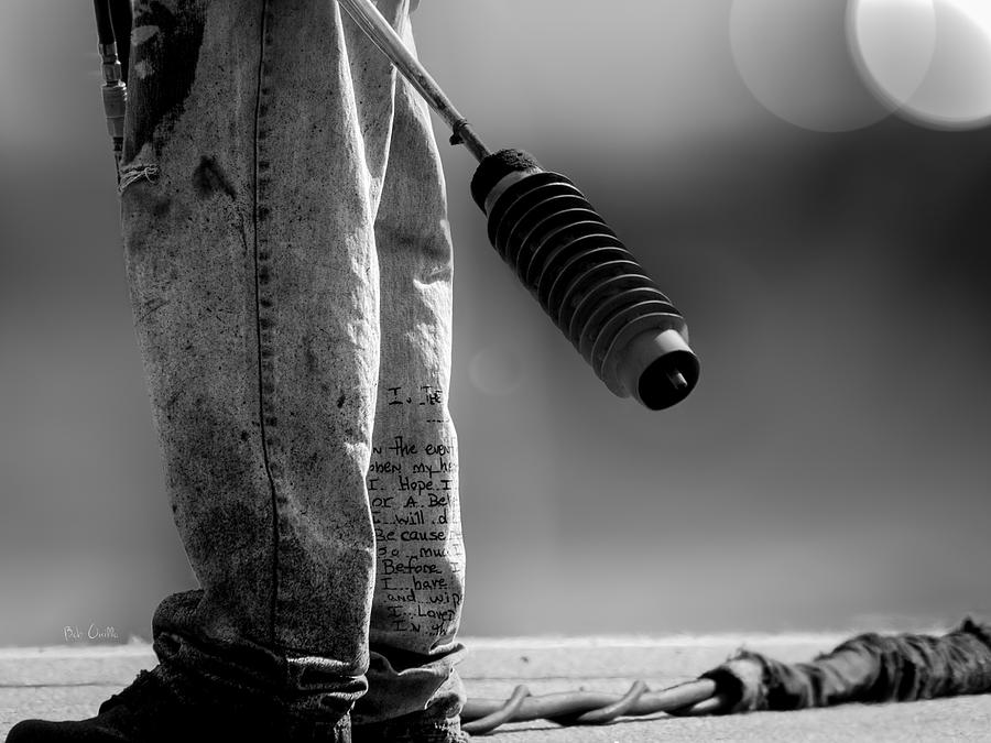 Street Photography Photograph - Poetry Pants And Flamethrower  by Bob Orsillo