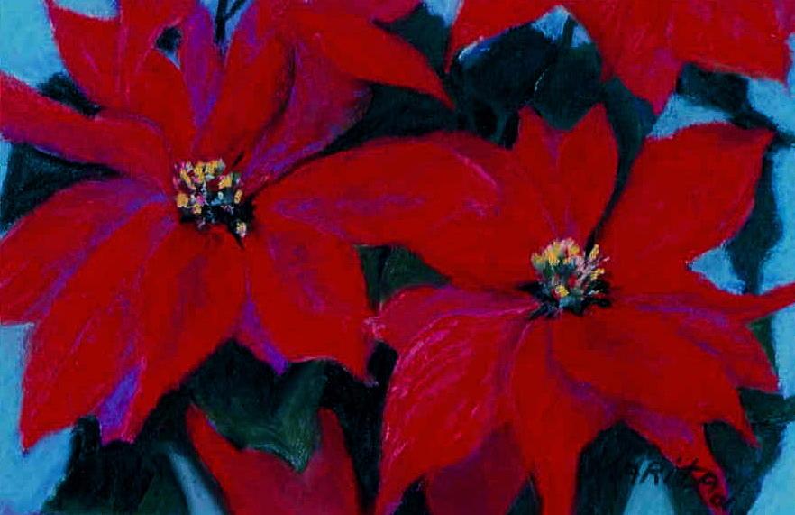 Poinsettia Painting - Poinsettia by Marita McVeigh