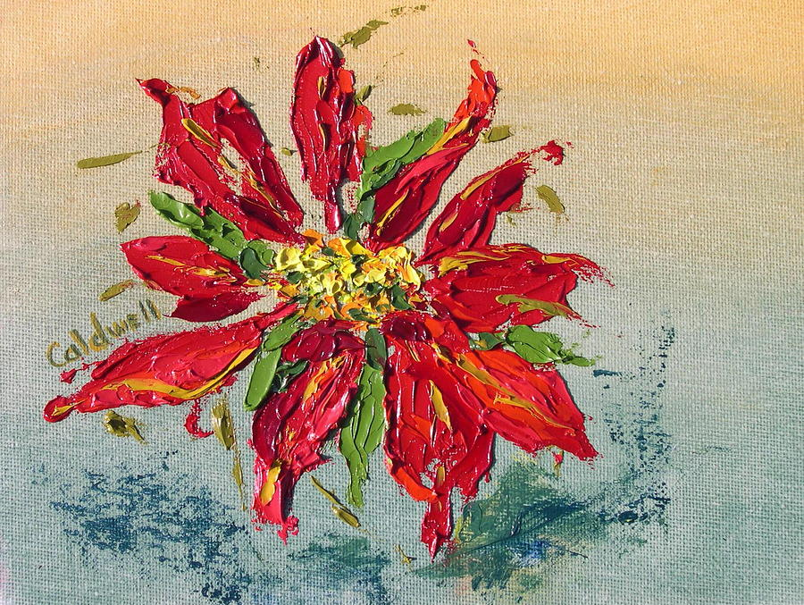 Poinsettia Painting by Patricia Caldwell