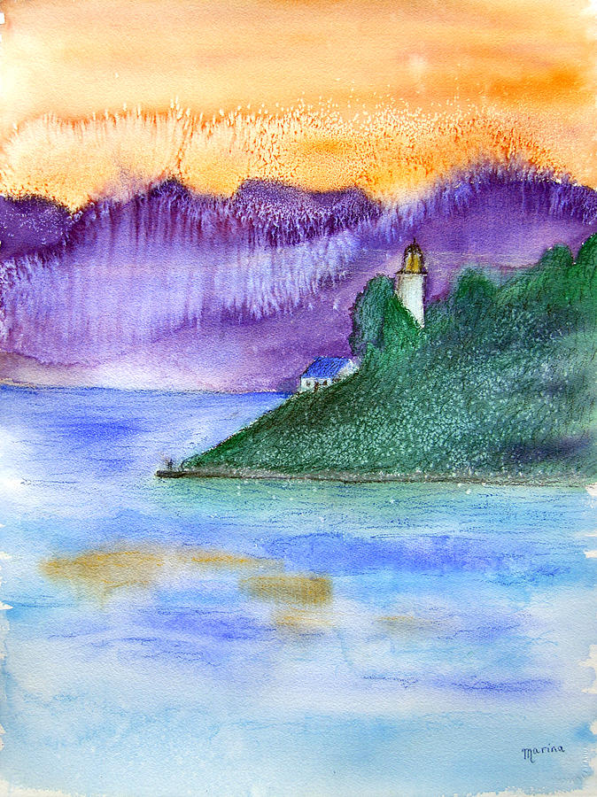Lighthouse Painting - Point Atkinson Lighthouse by Marina Garrison