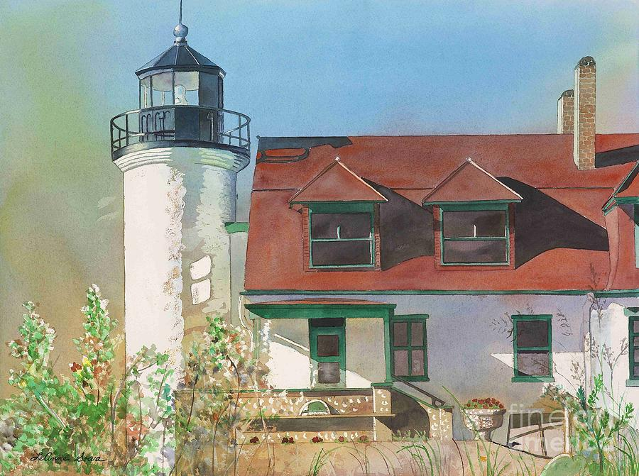 Frankfort Painting - Point Betsie Lighthouse by LeAnne Sowa