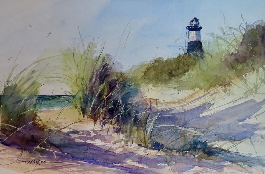 Ludington Painting - Big Sable Point Lighthouse by Sandra Strohschein