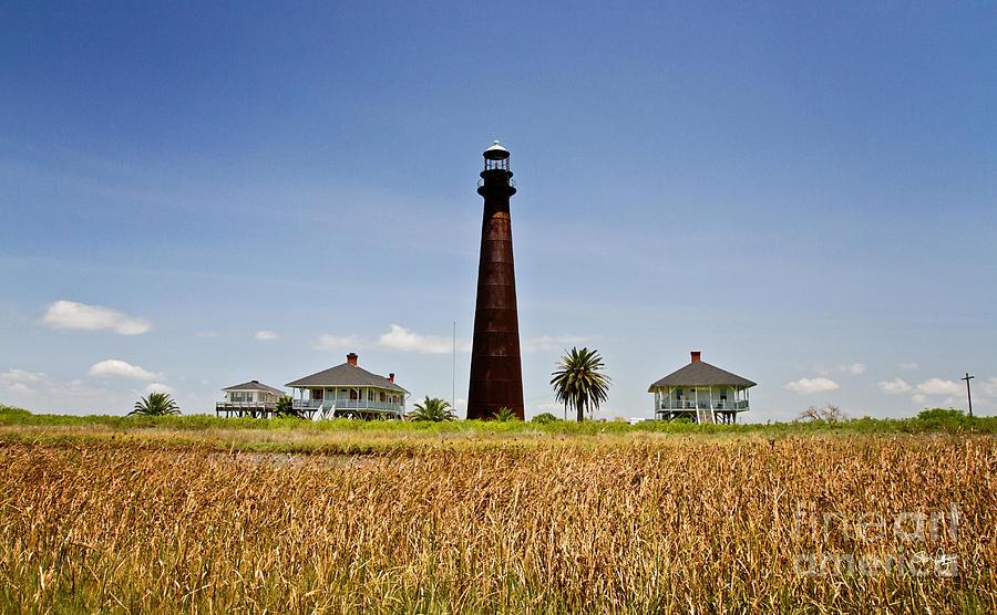 Lighthouse Photograph - Point Bolivar Lighthouse by Scott Pellegrin
