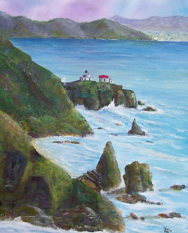 Lighthouse Painting - Point Bonita Lighthouse by Tony Rodriguez