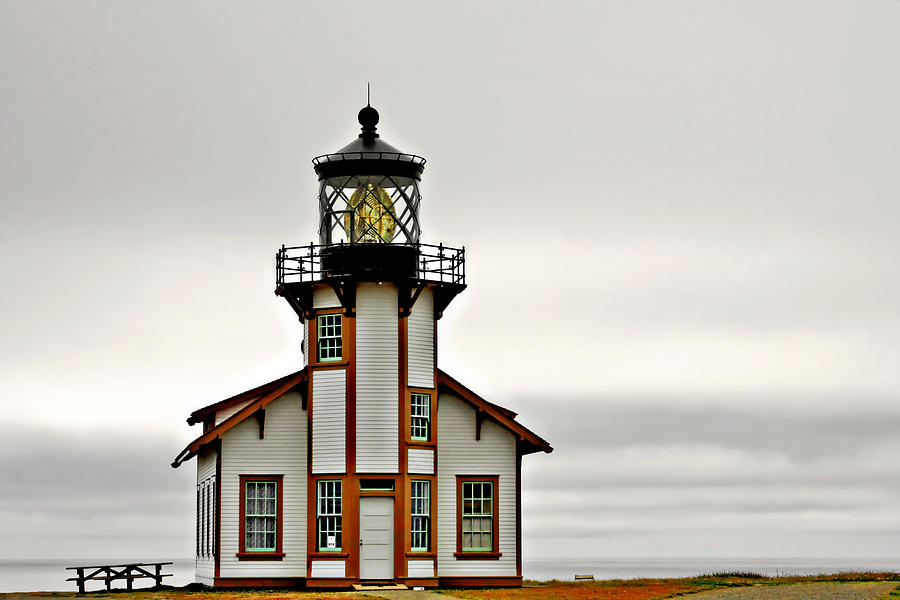 Point Cabrillo Lighthouse Photograph - Point Cabrillo Lighthouse California by Christine Till