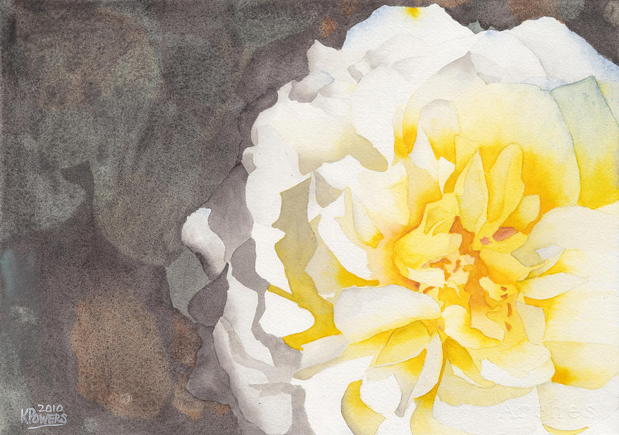 Point defiance white flower painting by ken powers watercolor painting point defiance white flower by ken powers mightylinksfo