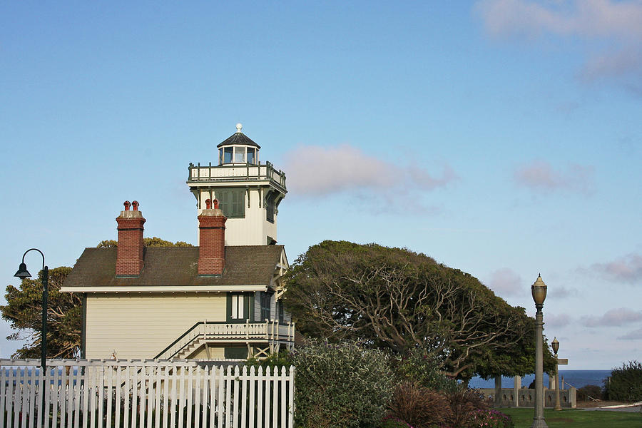 Big Sur Photograph - Point Fermin Light - An Elegant Victorian Style Lighthouse In Ca by Christine Till