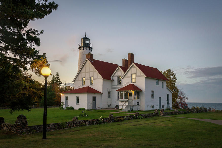 Point Iroquois Lighthouse by Steve L'Italien
