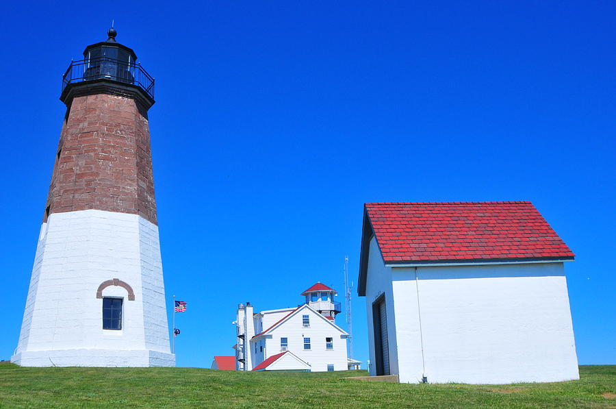 Point Judith Lighthouse Photograph - Point Judith Light by Catherine Reusch Daley