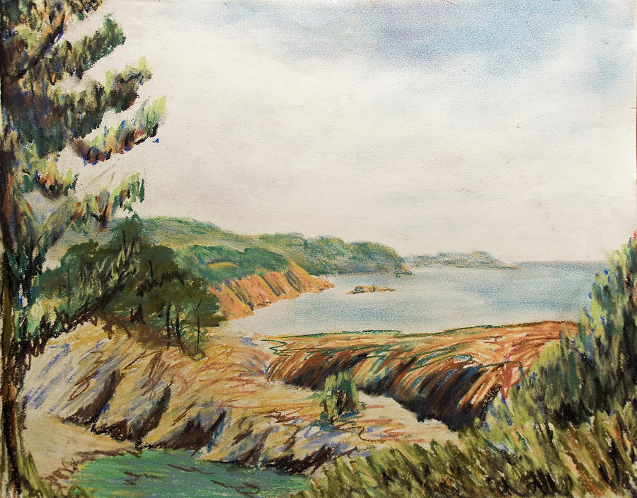 Point Lobos Pastel by Don Perino