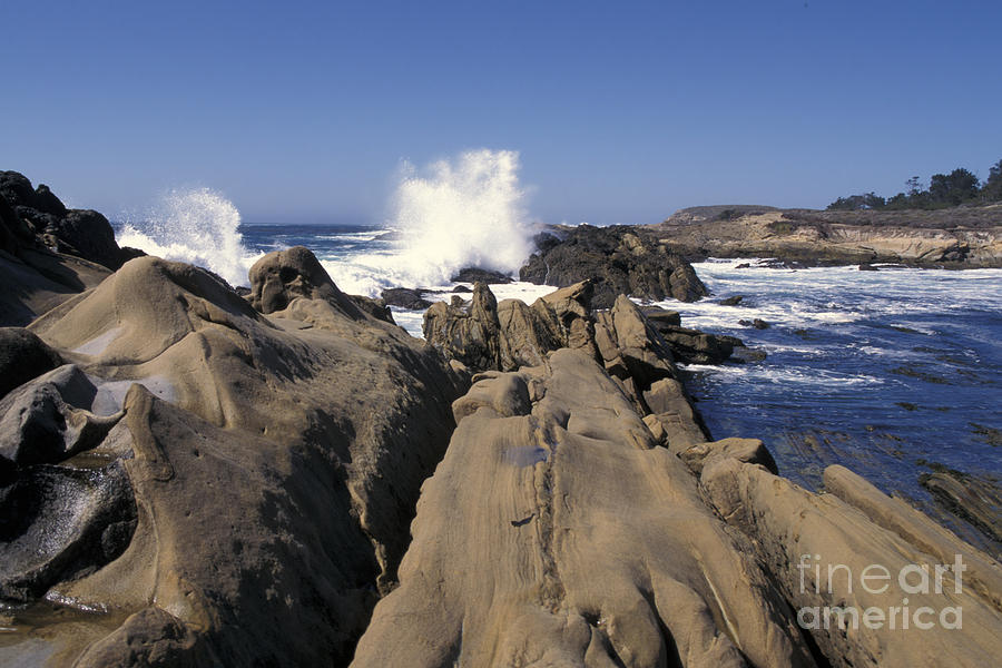 California Photograph - Point Lobos Seascape 3 by Stan and Anne Foster
