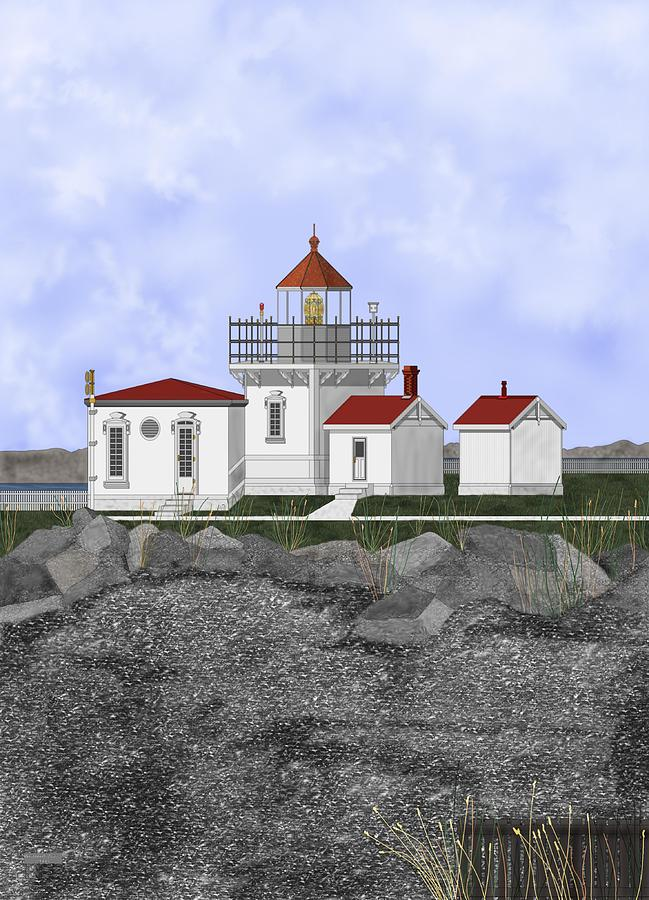 Lighthouse Painting - Point No Point Lighthouse by Anne Norskog