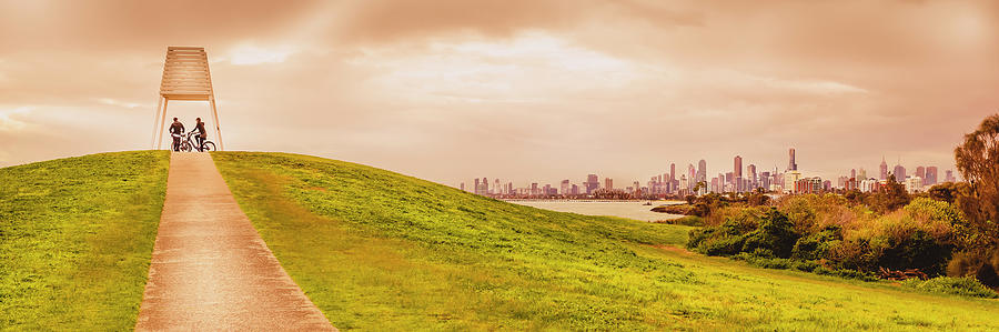 Australia Photograph - Point Ormond To The City by Michael Lees