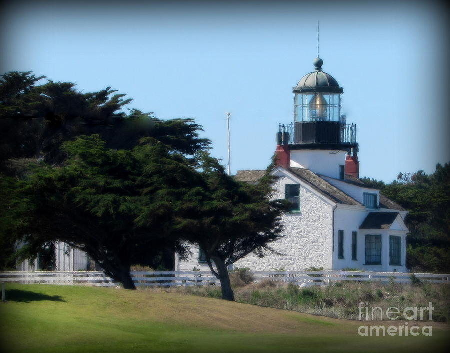 Lighthouse Photograph - Point Pinos Lighthouse In Pacific Grove, California by Joy Patzner
