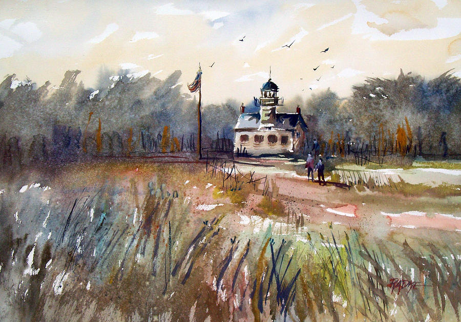 Watercolor Painting - Point Pinos Lighthouse by Ryan Radke