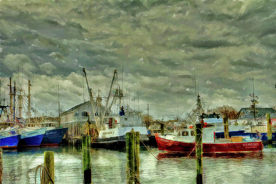 Point Pleasant New Jersey Marina Water Color Photograph